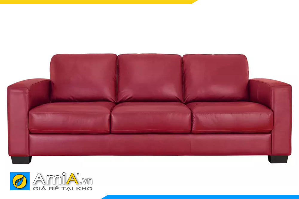 ghế sofa da màu đỏ cho phòng nhỏ
