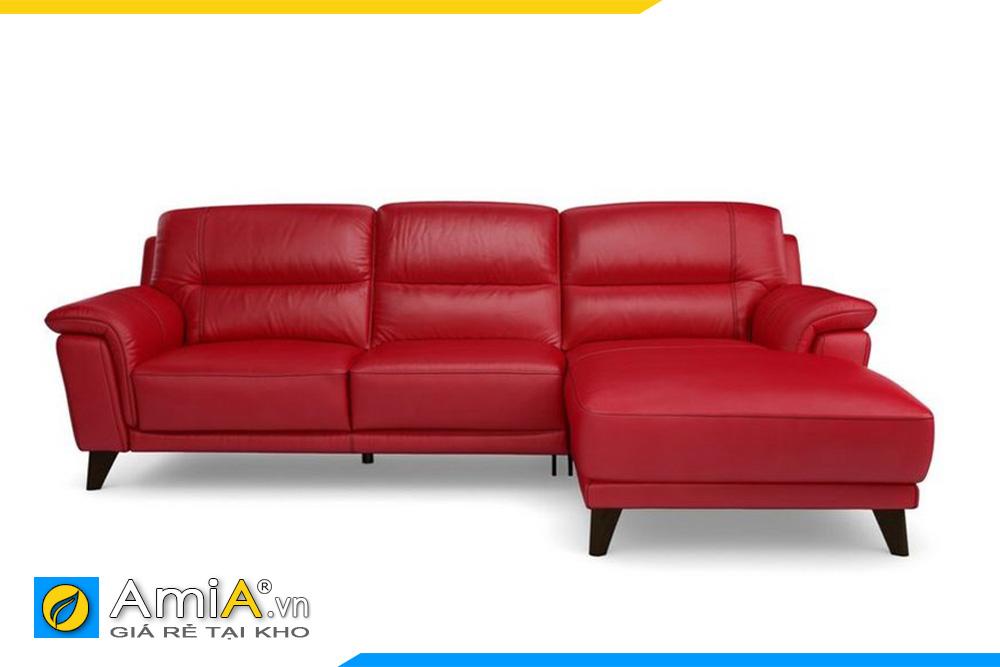 mẫu sofa da màu đỏ kê văn phòng cty
