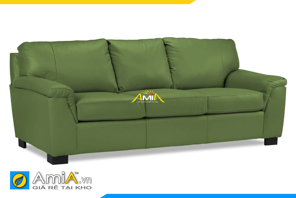 ghế sofa da màu xanh đẹp