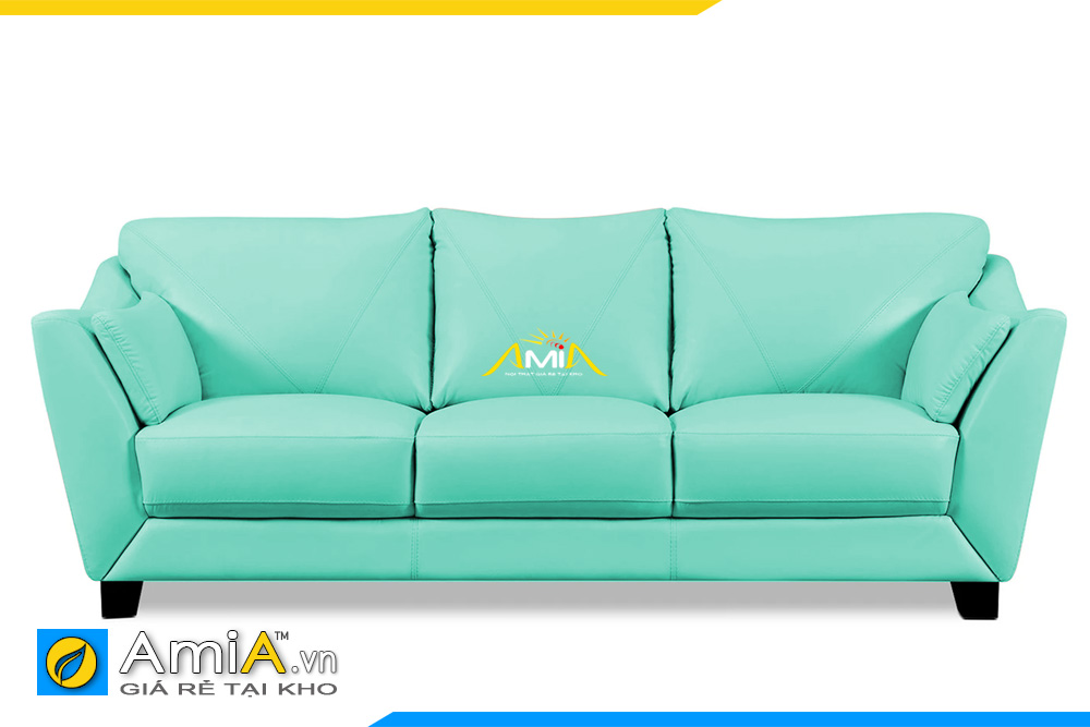 ghế sofa da màu xanh ngọc đẹp