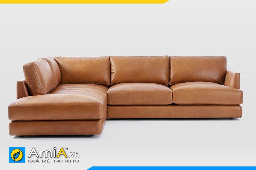 Mặt trước ghế sofa da AmiA 20115