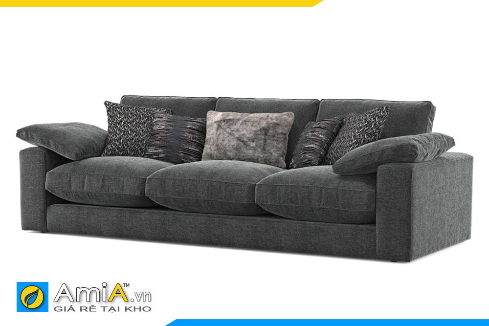 sofa bọc nỉ đẹp chiều cao thấp AmiA 20038