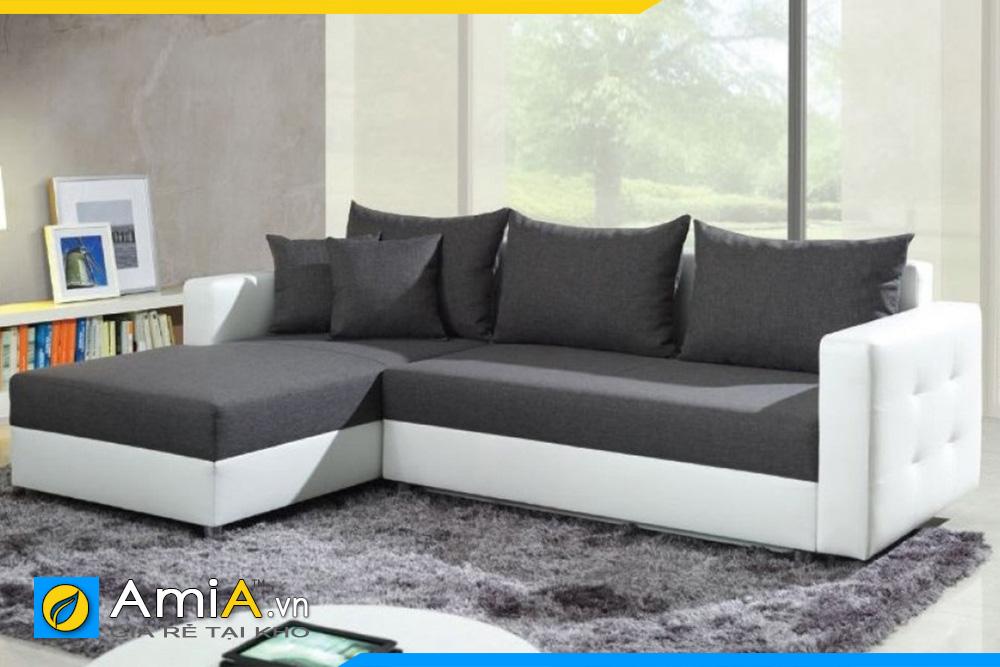 sofa đẹp phối màu trắng và đen