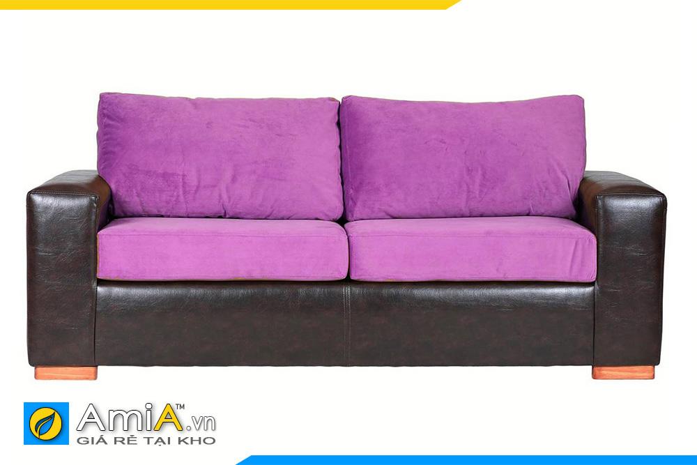 sofa màu tím và màu đen