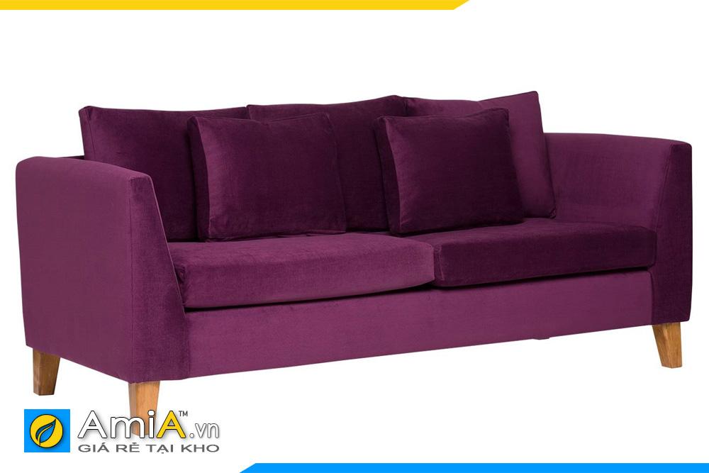 Ghế sofa văng nỉ màu tím đậm