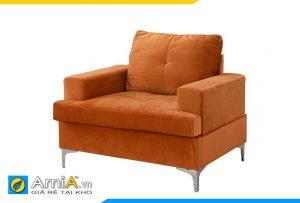 sofa màu cam đẹp 1 chỗ ngồi
