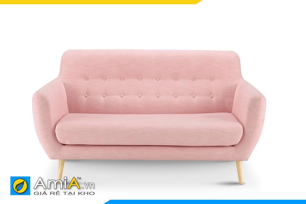 Mẫu sofa văng nhỏ mini màu phớt hồng