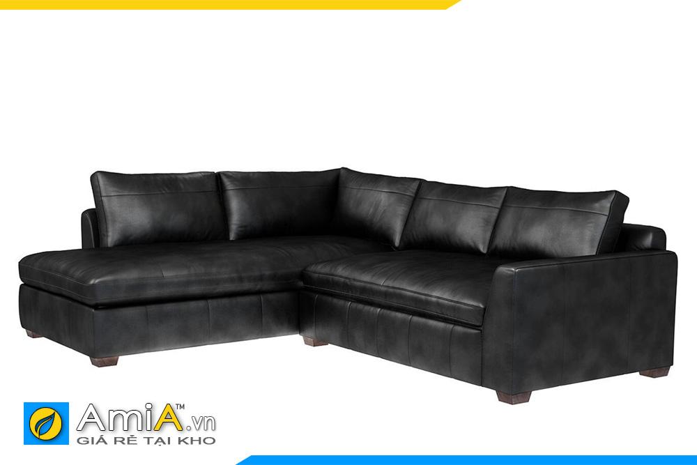 ghế sofa da màu đen đẹp AmiA 20049