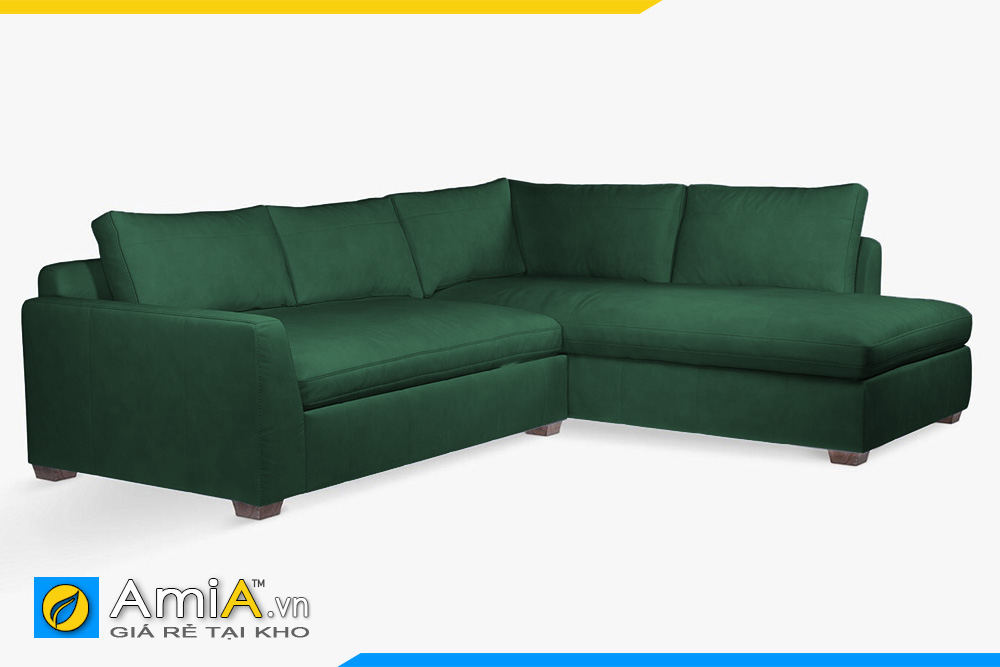 ghế sofa bọc da màu xanh AmiA 20049