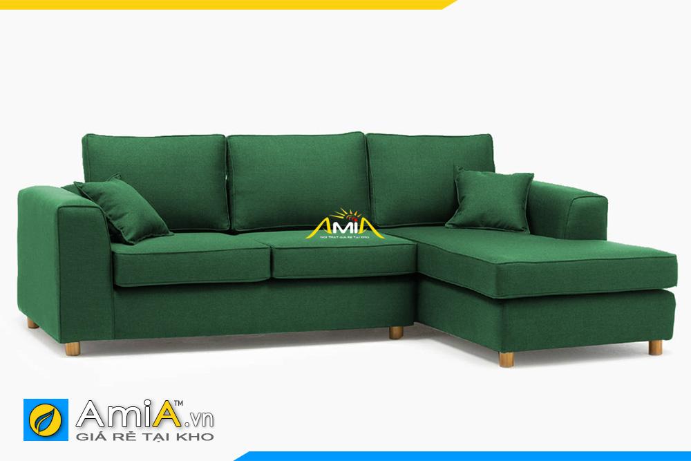 sofa góc nỉ màu xanh lục