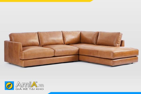 ghế sofa da kiểu góc có dáng thấp