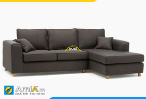 sofa nỉ màu ghi sẫm AmiA 20170