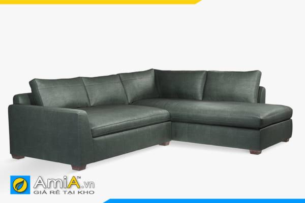 sofa da đẹp kiểu góc