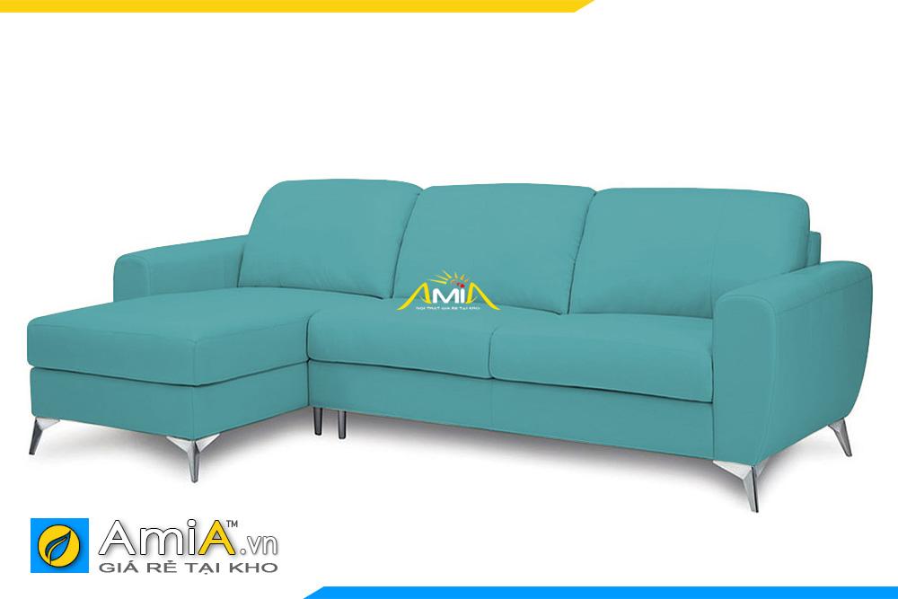 sofa da màu xanh lam AmiA 20226