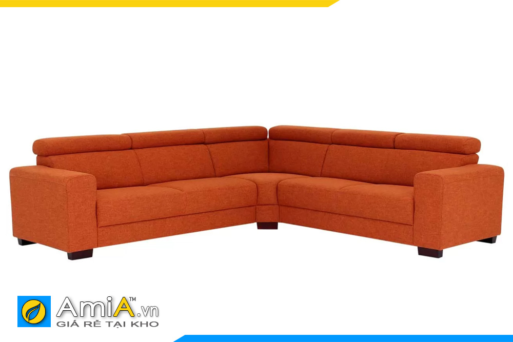 Ghế sofa cho phòng khách rộng màu đỏ cam