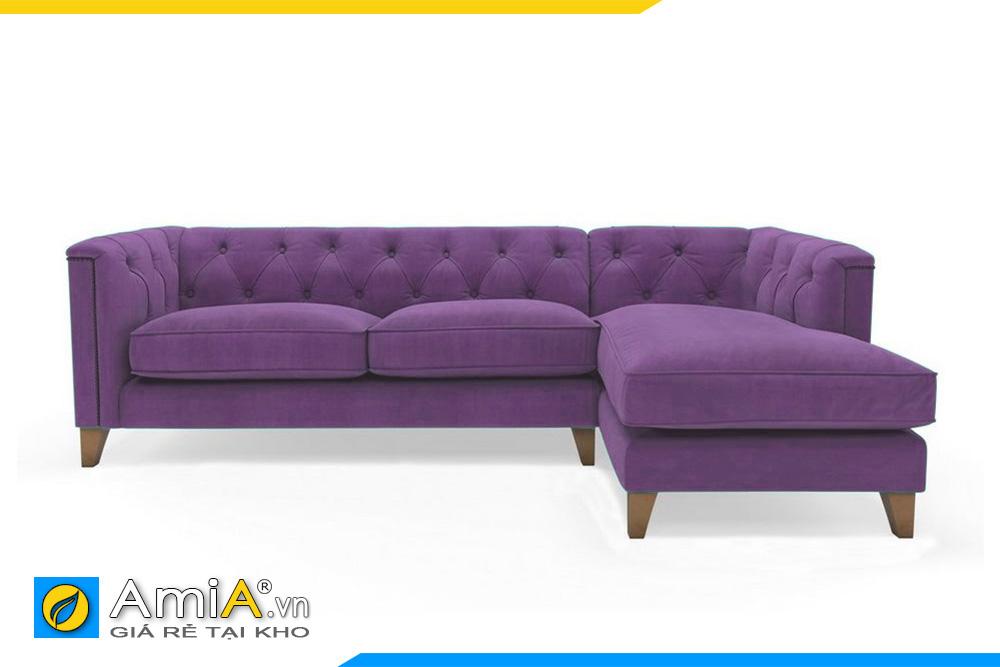 Sofa góc chữ L đẹp màu tím