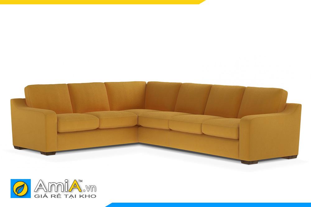 sofa bọc nỉ kiểu góc chữ L