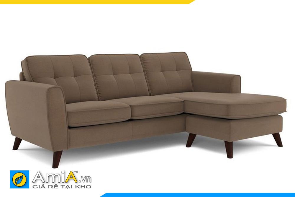 ghế sofa góc bọc nỉ màu ghi nâu