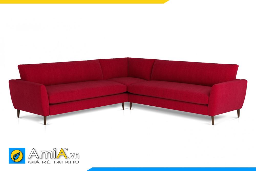 sofa màu đỏ kiểu góc AmiA 20095