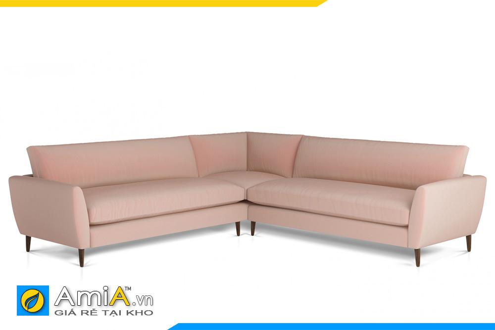 sofa nỉ màu hồng phai