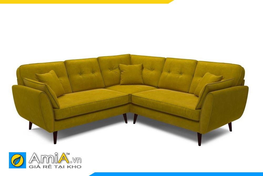 sofa màu vàng kiểu góc chữ V
