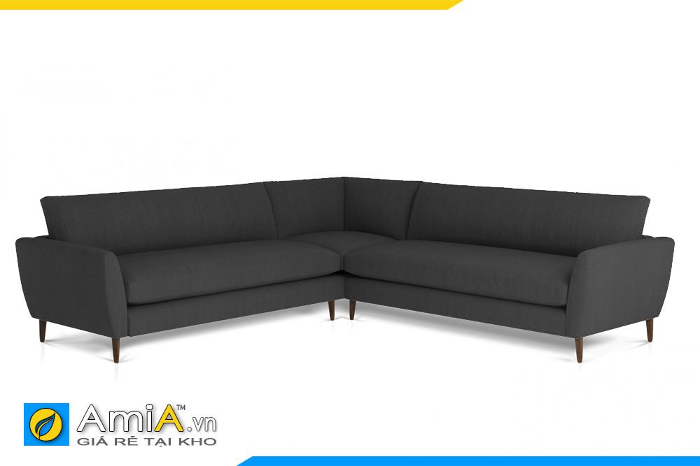 sofa góc V màu ghi sẫm AmiA 20095