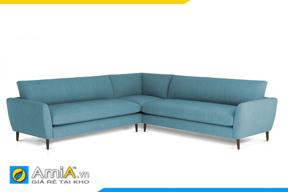 sofa màu xanh lam kiểu góc chữ V