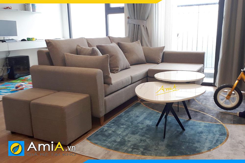 sofa góc đẹp phòng khách AmiA 20170