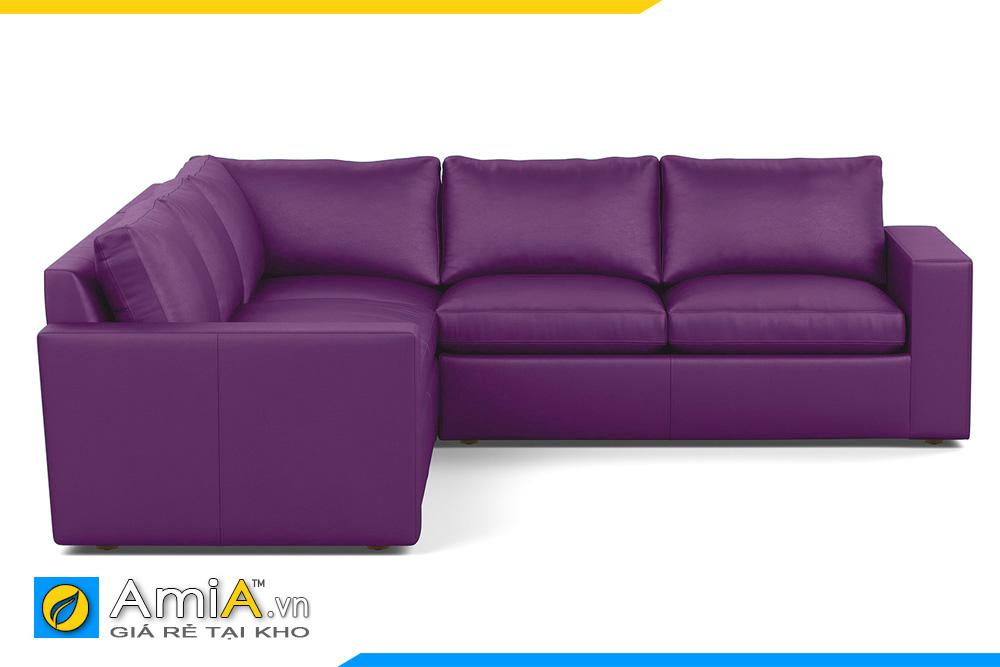 sofa bọc da màu tím