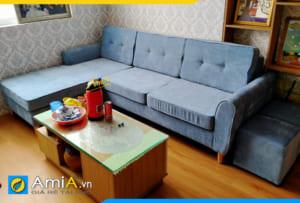 sofa góc vải nỉ đẹp AmiA 20207