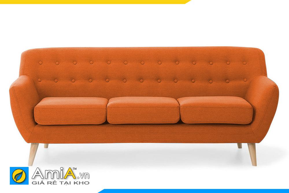 sofa nỉ đẹp màu cam