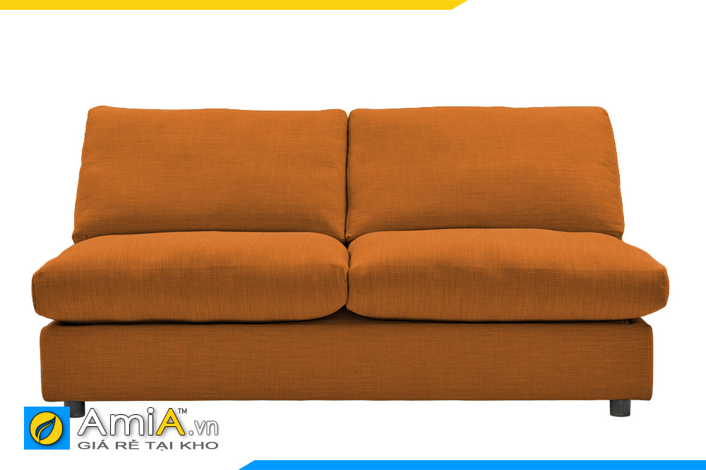 sofa bọc nỉ màu cam AmiA 20068