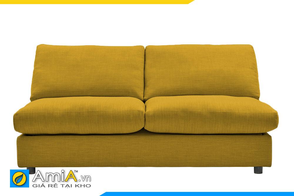ghế sofa không tay vịn màu vàng
