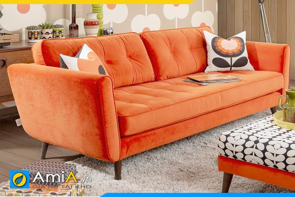 Ghế sofa màu cam cực đẹp và nổi bật