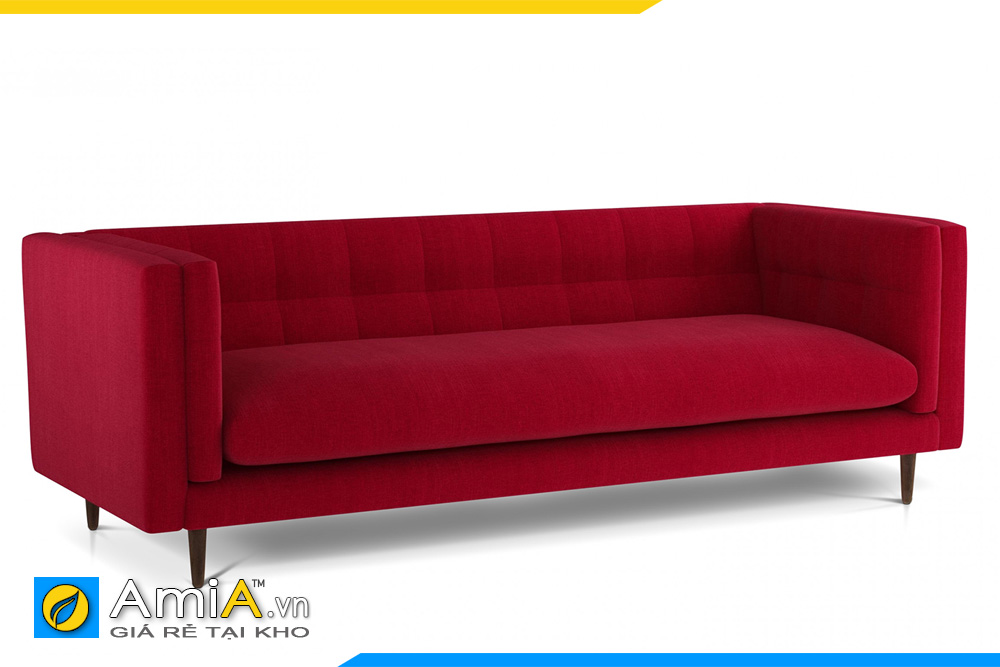 sofa nỉ màu đỏ dạng ghế dài