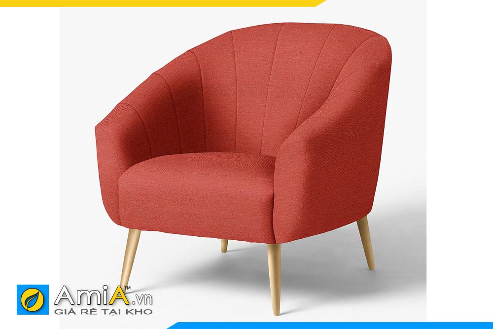 ghế sofa màu đỏ 1 chỗ ngồi