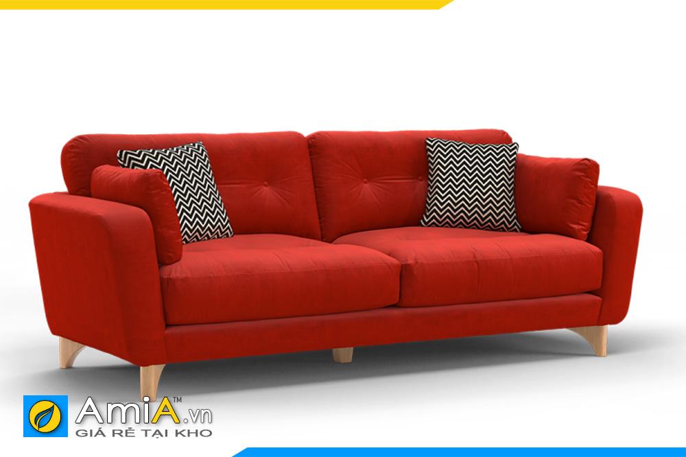 Ghế sofa màu đỏ dạng văng