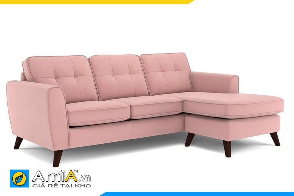 Mẫu sofa phòng khách màu hồng