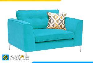 sofa phòng ngủ màu xanh dương