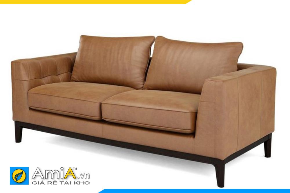 ghế sofa nhỏ mini da bò