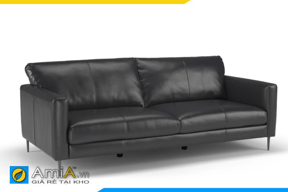 ghế sofa chất liệu da đen