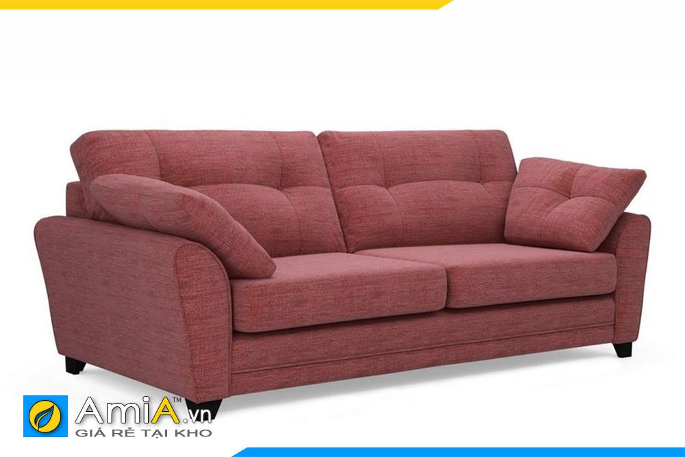 ghế sofa nỉ màu đỏ trầm