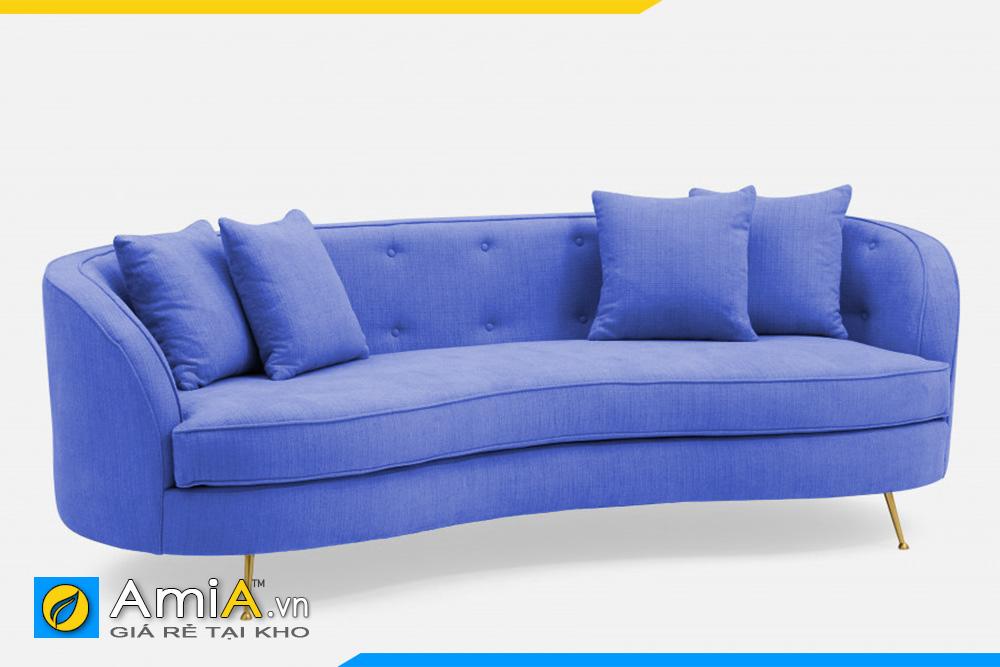 Mẫu sofa văng màu xanh dương