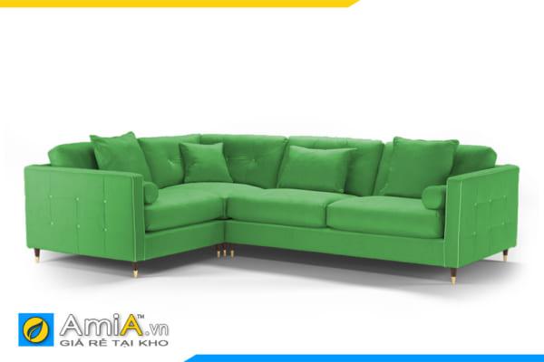 sofa nỉ màu xanh lá cây AmiA 20036