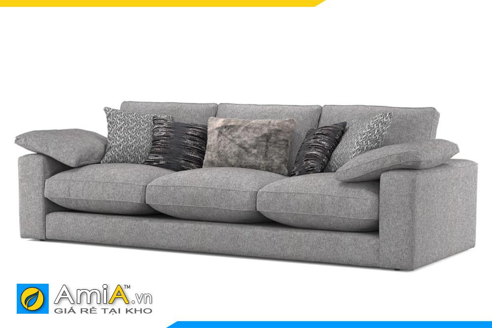 Mẫu ghế sofa dáng thấp bọc nỉ