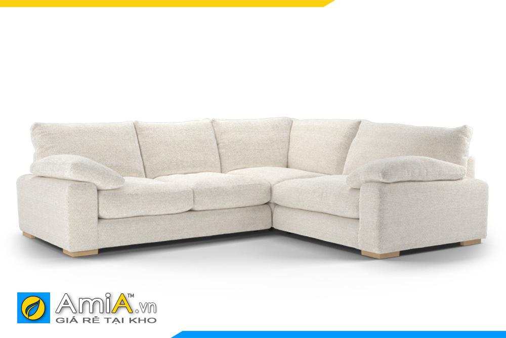 sofa nỉ màu trắng kem AmiA 20041