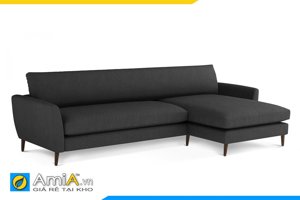 sofa nỉ giá rẻ màu ghi sẫm AmiA 20094