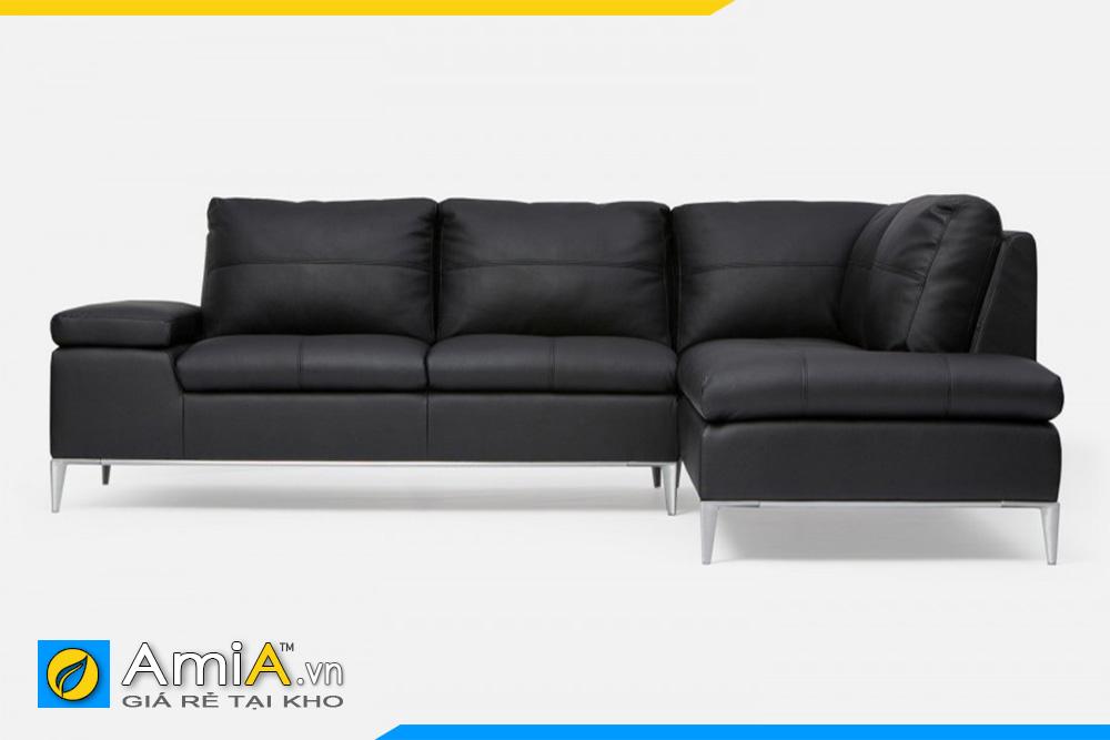 Mẫu sofa góc chữ L màu đen