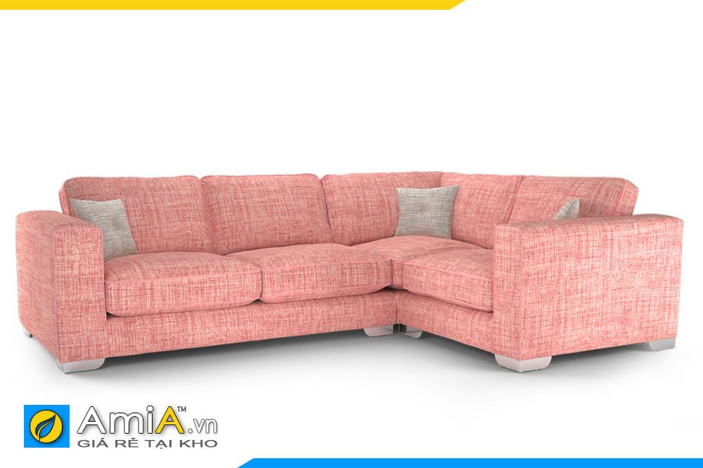 sopha phòng khách đẹp màu hồng phai