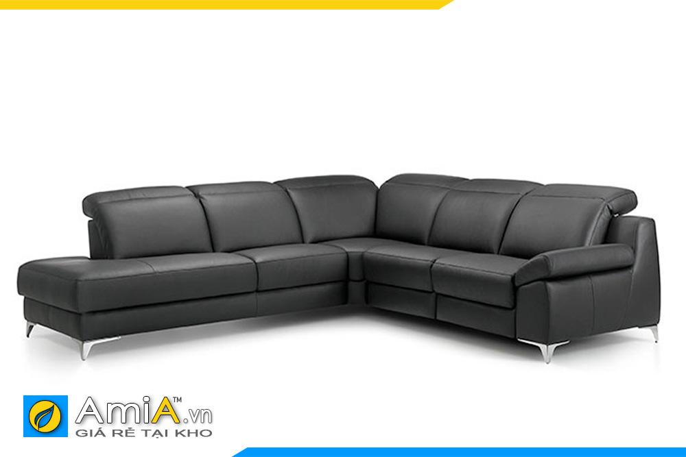 ghế sofa da màu đen nhạt